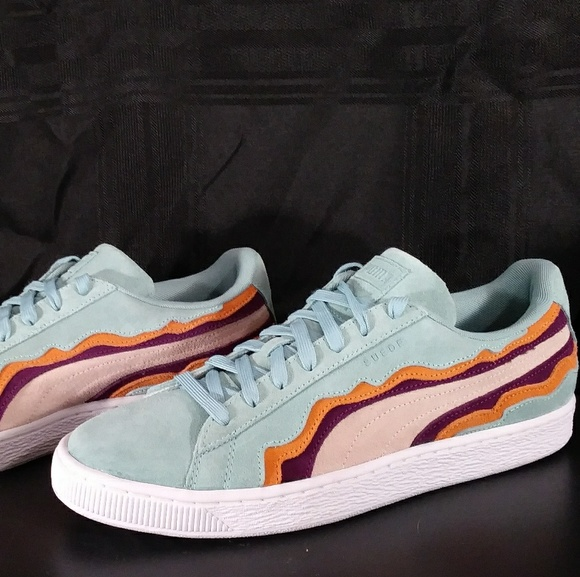 online store 80a08 ed66f NEW! Puma Suede Coast Pack Teal/Blue/Red NWT